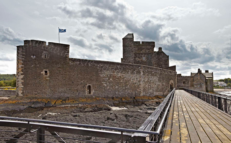 Blackness Castle - referred to as 'the ship that never sailed' - because it looks like a great stone ship that has run aground - 25 July 2012