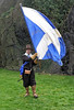 Waving the Banner - Dumbarton Castle - 24 March 2012