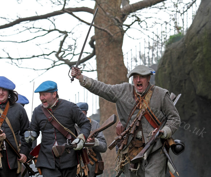 Fraser's Dragoons Charging - Dumbarton Castle - 24 March 2012