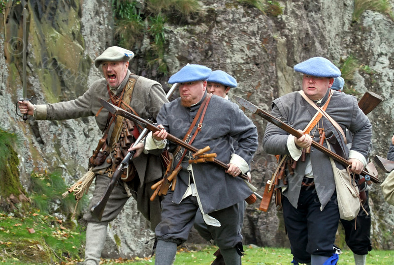 Fraser's Dragoons Charge - Dumbarton Castle - 24 March 2012