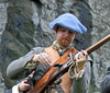 Loading Musket - Dumbarton Castle - 24 March 2012
