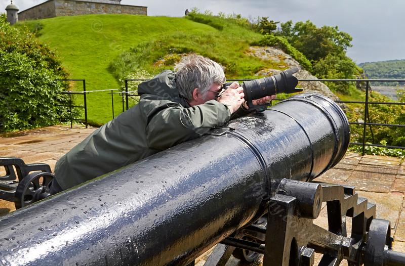 Photographer at Dumbarton Castle - 8 June 2014