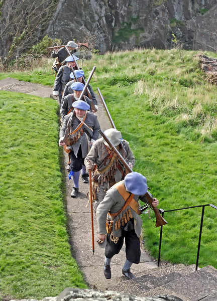 Fraser's Dragoons on the March - Dumbarton Castle - 24 March 2012