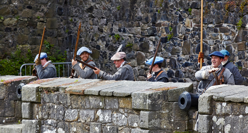 The First Captain's Company of Henry Tillier's Regiment at Dumbarton Castle - 8 June 2014