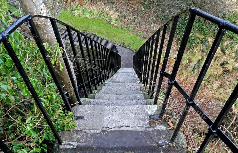 Dumbarton Castle- Steep Stairs