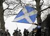 Flag Waving - Dumbarton Castle - 24 March 2012