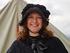 Smiling Suffragette at Dumbarton Castle Rock of Ages Event - 14 June 2015