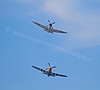 P-51D Mustang and Spitfire at the Celebration of the Centuries - Fort George - 11 August 2012
