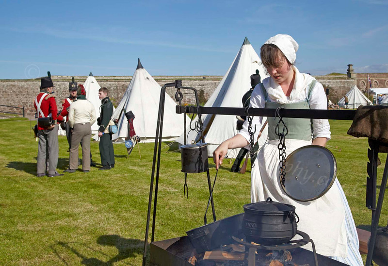 Preparing the Food - Celebration of the Centuries at Fort George - 11 August 2012