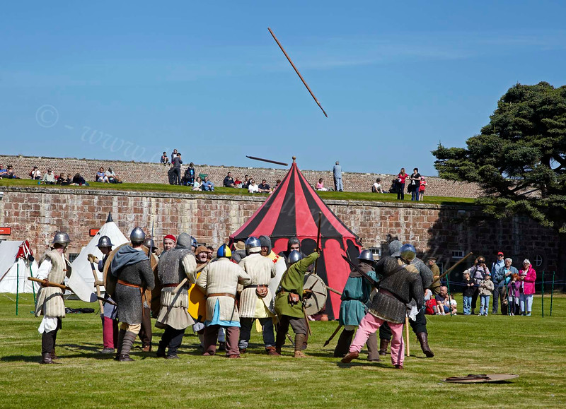 Carrick 800 Re-enactment Group at the Celebration of the Centuries - Fort George - 11 August 2012