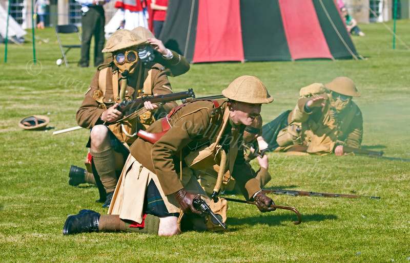 Second World War Battle at the Celebration of the Centuries - Fort George - 11 August 2012