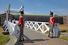 Napoleonic Soldiers on Guard at the Celebration of the Centuries - Fort George - 11 August 2012