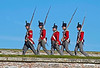 Napoleonic Soldiers Marching at the Celebration of the Centuries - Fort George - 11 August 2012