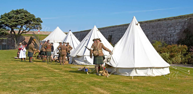 Second World War Camp at Celebration of the Centuries - Fort George - 11 August 2012