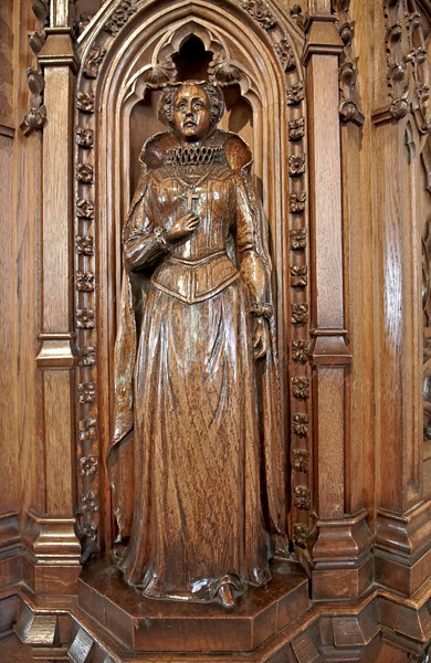 Mary Queen of Scots Engraved on the Pulpit - St Michael's Kirk - 8 July 2012