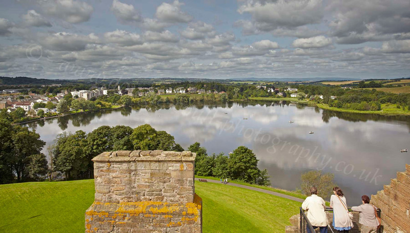 Overlooking the Loch from Linlithgow Palace - 25 July 2012