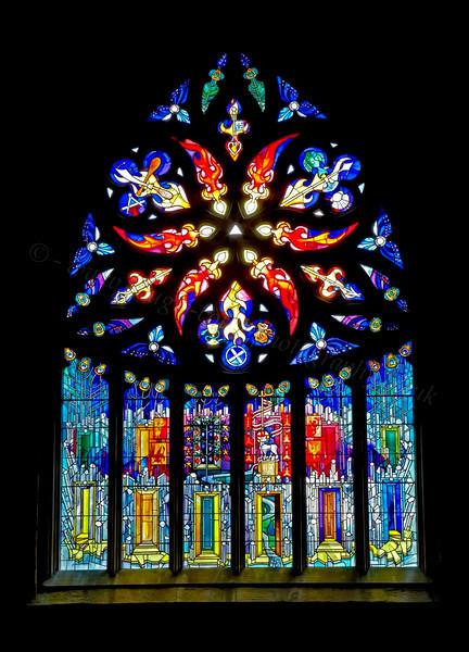 Stain Glass Window - St Michael's Church - 25 July 2012