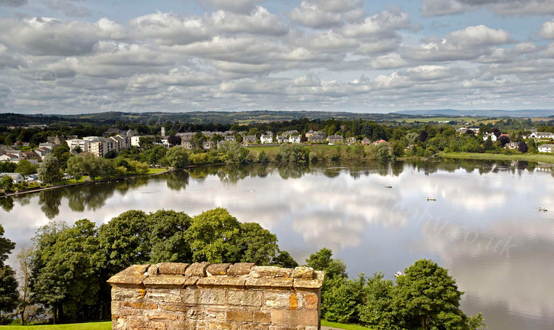 Looking over the Loch from Linlithgow Palace - 25 July 2012