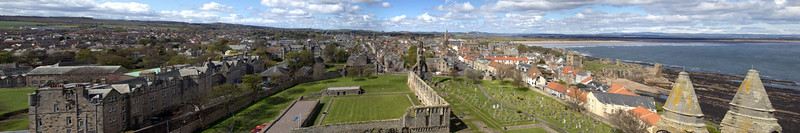 View from St Rule's Tower - St Andrews - 27 April 2012