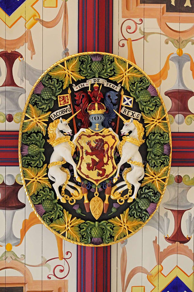Coat of Arms on Celing - Stirling Castle - 31 May 2012