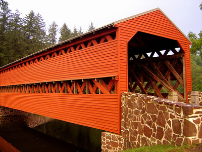 Sachs Covered Bridge built around 1854