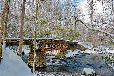 Winter At The Old Railroad Bridge