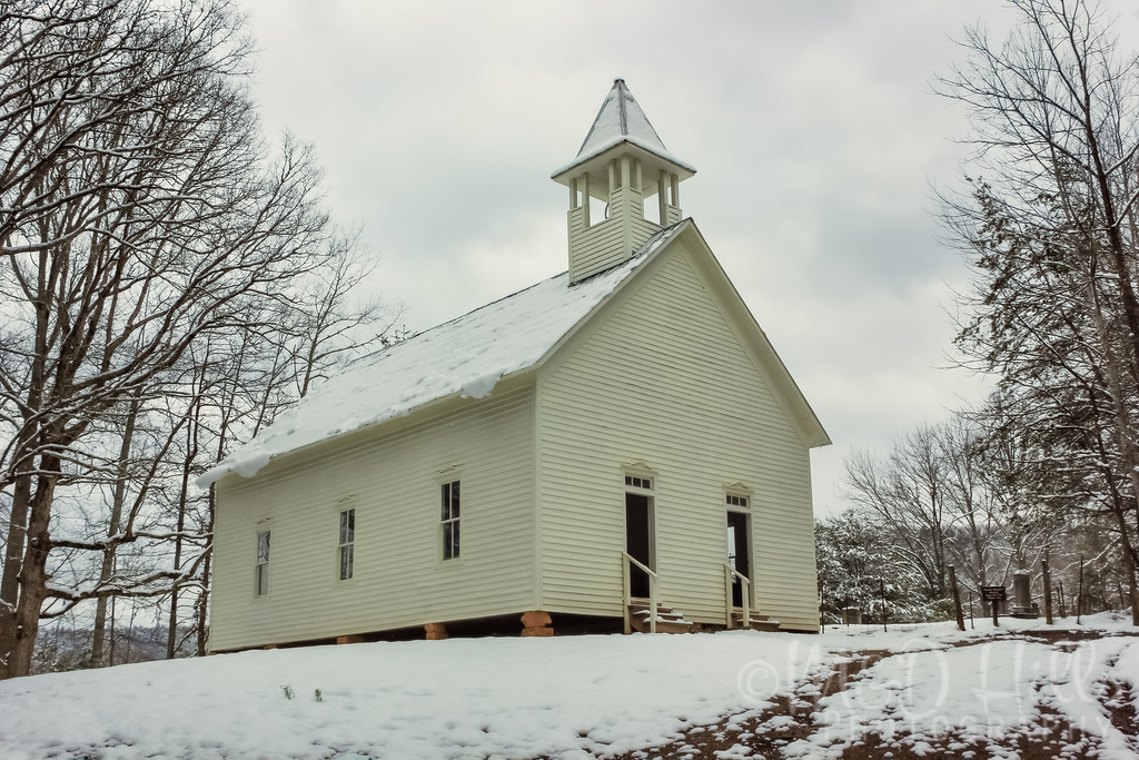 Winter At The Methodist Church