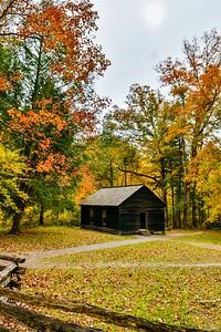 Fall At Little Greenbrier School House Vertical