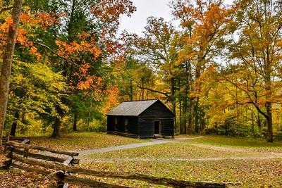 Fall At Little Greenbrier School House