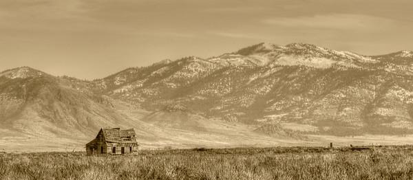 An old farmhouse in Sierra Valley