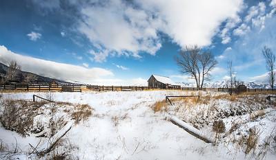 Snowy Twaddle Ranch Scene