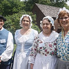 Volunteers from the Job Lane House paused for a photo with Cathy Burns and Diane Douglas of the Billerica Historical Society. Photo by Beth Douglas