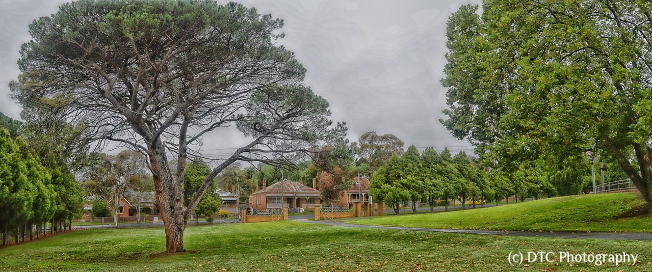 View across to Faithfull St from Victoria Park, Goulburn