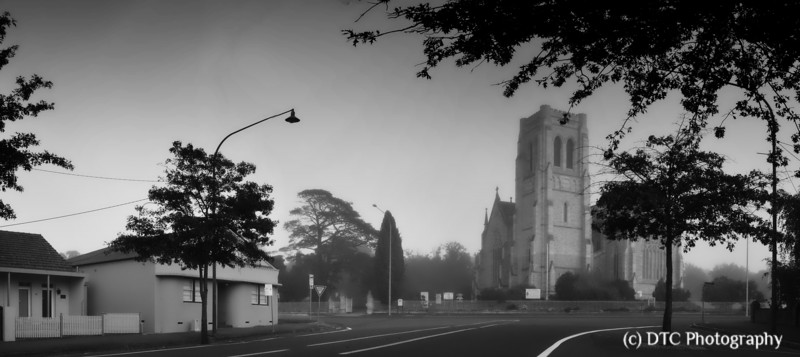 Light morning fog, St Saviours, Goulburn