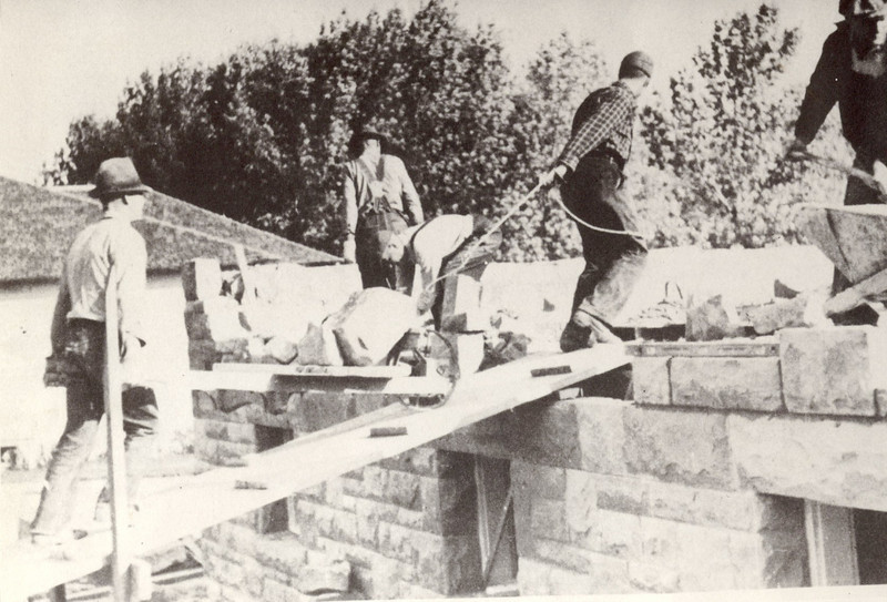 Construction of Alden Hall