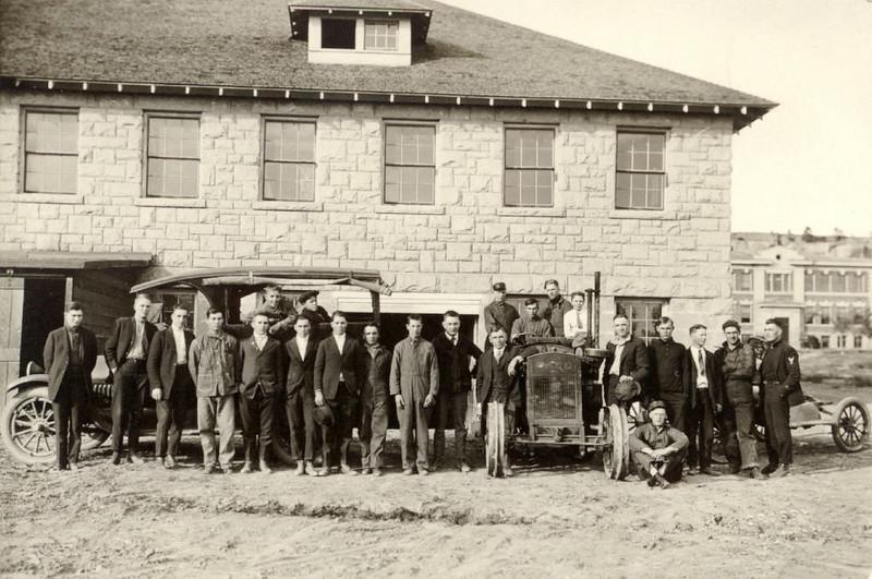 Auto Mechanics Class in late 1920s