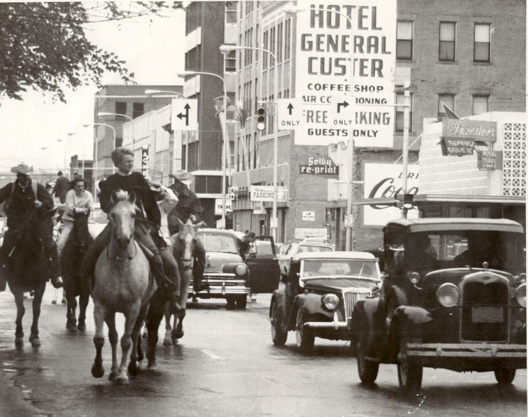 Parade by Hotel Gen Custer