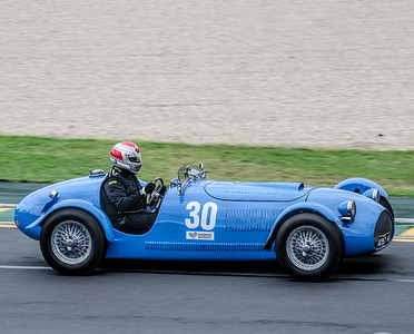 Terry Forrest, number 30, driving a 1953 JSR