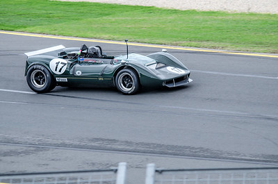 Keith Berryman, number 17, driving a 1967 Matich SR3