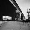 1937-10 B&M #4014 Worc under B&A Bridge_dK