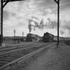 B&M East Deerfield, MA, westbound #4100 passes #4006. 1940-08n2_dK