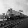 English Coronation Train at Worcester, MA Union Station. 1940-10n1_dK