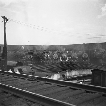 Readville, MA engine house lineup. 1940-16n2_dK