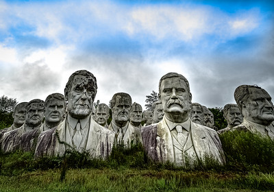 President Heads - Williamsburg, Virginia