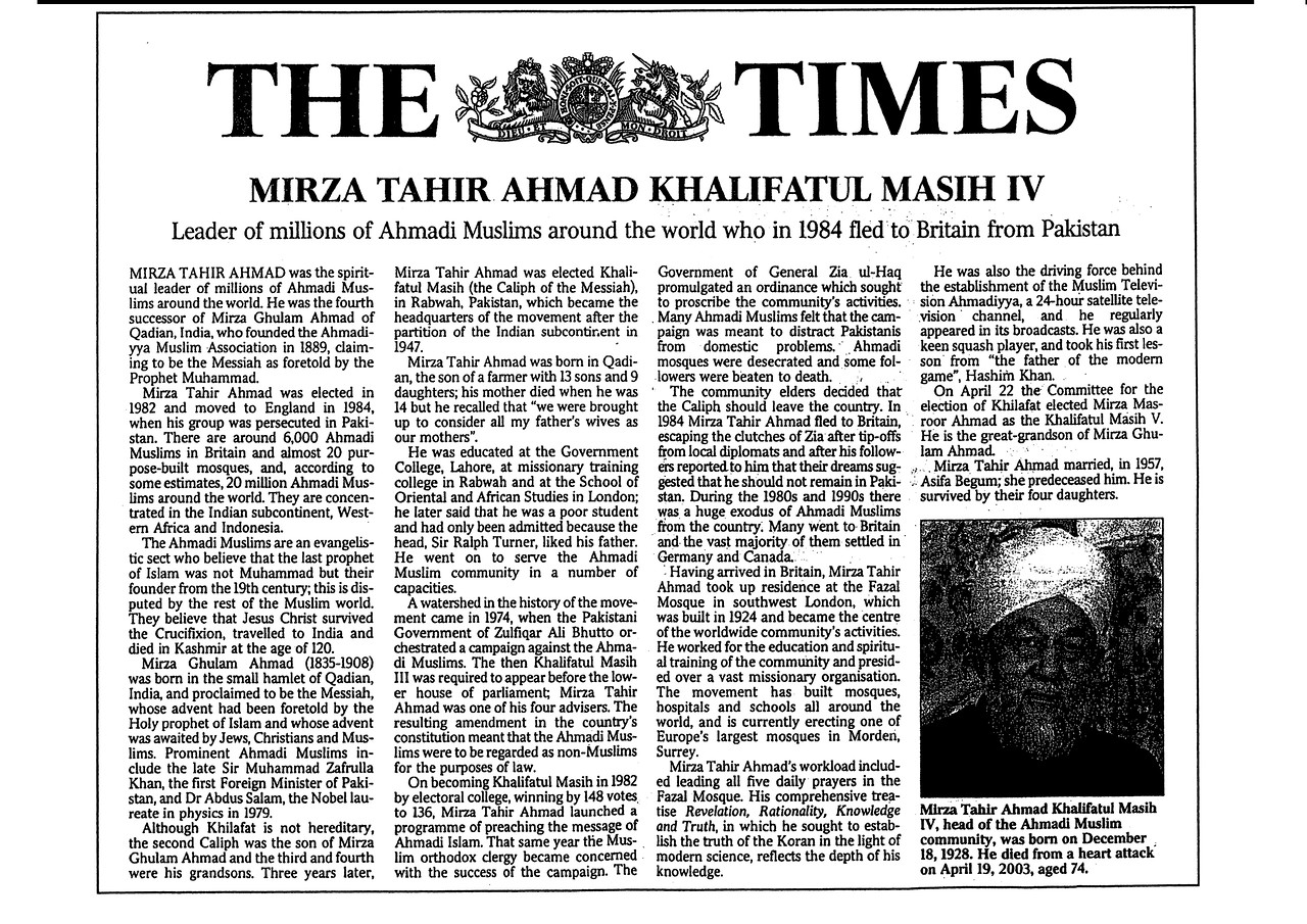 HKM4 Times Obituary 1 of 2
