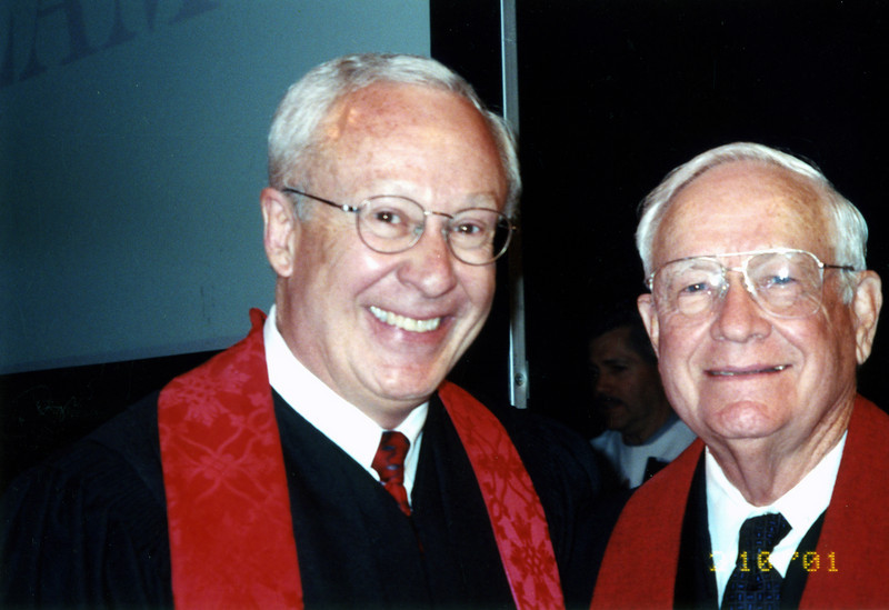 Rev. Dr. Henry Roberts with Bishop Paul Duffey