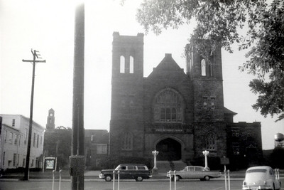 Sanctuary c1962. Note: telephone call box on power pole (left foreground)