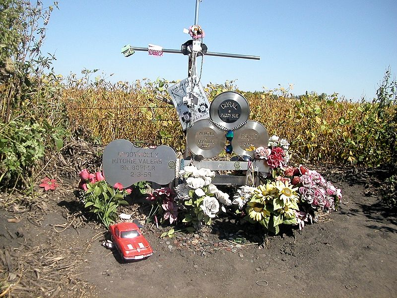 Memorial marker placed at the crash site in 2006.