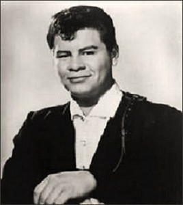 "Ritchie Valens (Richard Steven Valenzuela) age 17, was an American singer, songwriter and guitarist.<br /> <br /> A rock and roll pioneer and a forefather of the Chicano rock movement, Valens' recording career lasted only eight months. During this time, however, he scored several hits, most notably ""La Bamba"", which was originally a Mexican folk song that Valens transformed with a rock rhythm and beat that became a hit in 1958, making Valens a pioneer of the Spanish-speaking rock and roll movement."