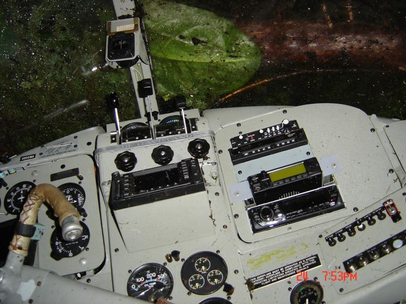 The aircraft instrument panel was relatively intact despite of the violent impact with the mountainside.